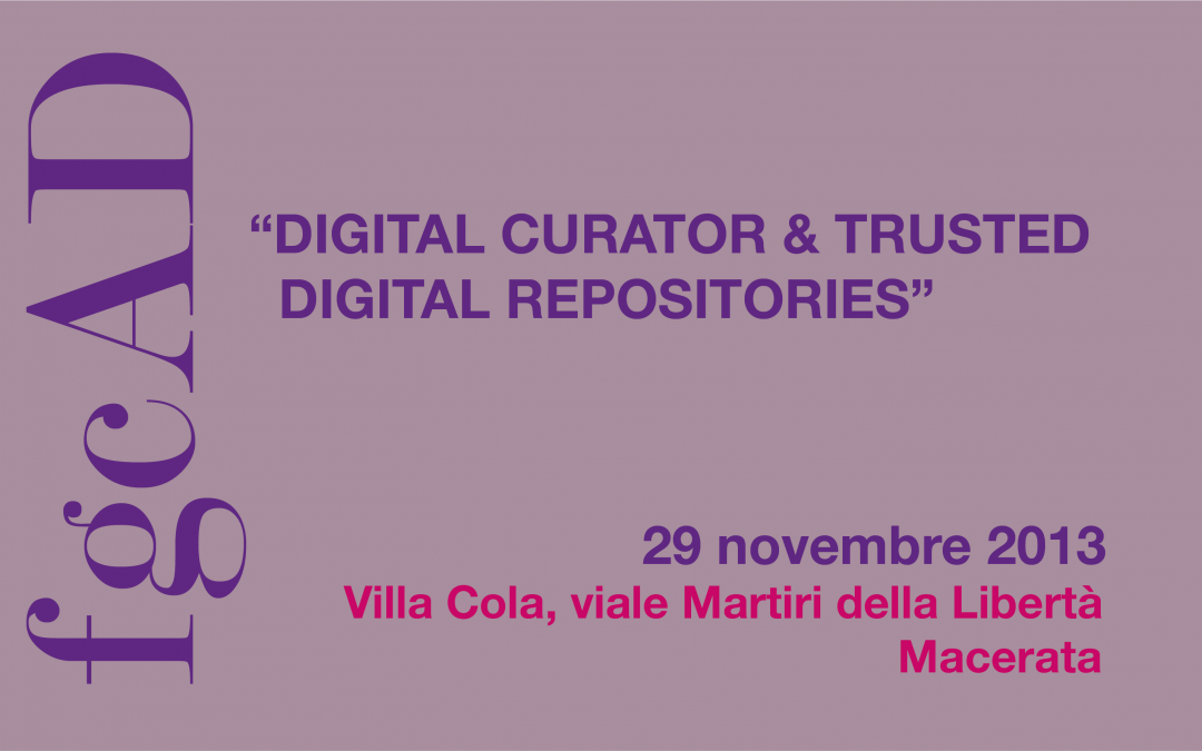 Digital Curator & Trusted Digital Repositories